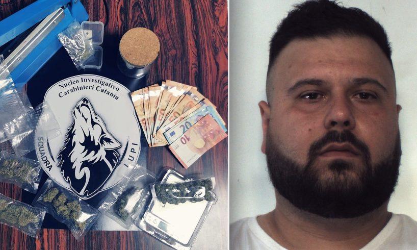 Catania, consegna a domicilio per la droga 'speciale' ordinata su WhatsApp: 31enne di Pedara arrestato dai 'Lupi'