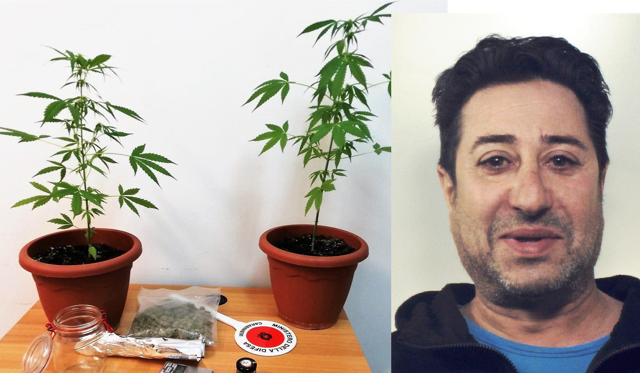 Bronte, sorpreso con la droga in auto ( e 2 piantine a casa): arrestato 54enne