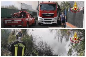 Catania, vasto incendio a San Francesco la Rena: gigantesca nube di fumo sovrasta la città (