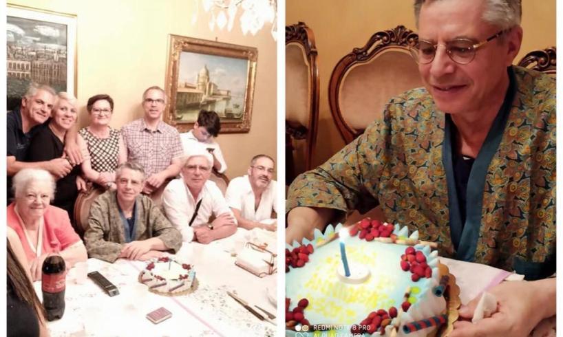 Adrano, una torta e l'affetto dei familiari per il primo anno da Vescovo di Mons. Schillaci