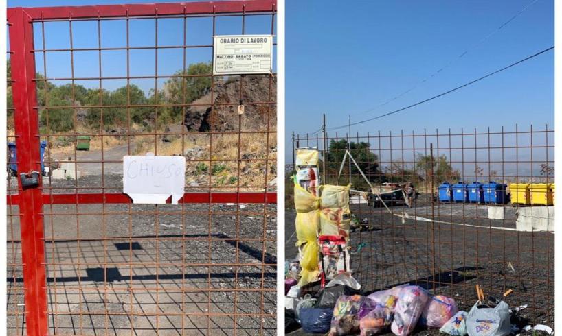 Vigne Adrano, l'eterna vergogna della raccolta dei rifiuti: oggi a sorpresa l'Eco Punto è chiuso