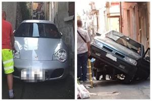 Auto incastrate nelle viuzze-budello: quella volta che a Paternò una Fiat Croma…