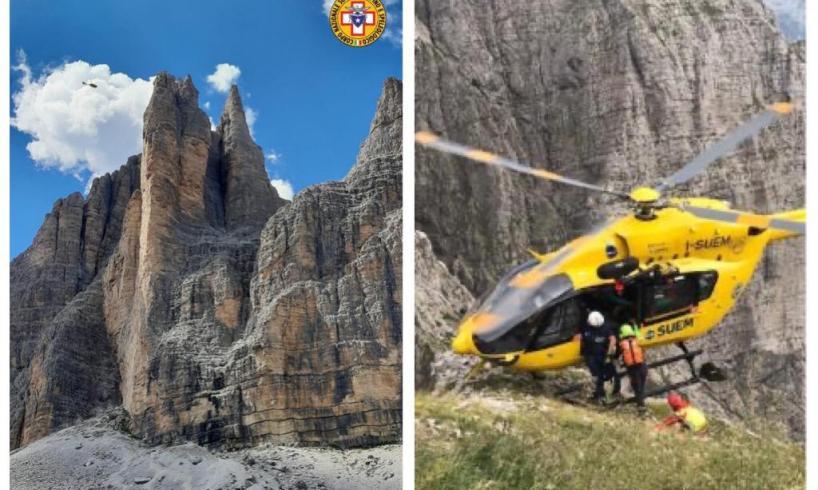 Adrano, escursionista 25enne soccorso in Veneto: intervento dell'elicottero per trauma alla caviglia