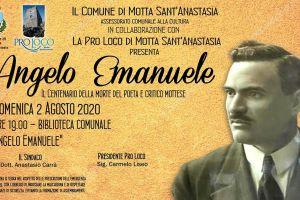 Motta S. Anastasia: domani la città ricorda Angelo Emanuele, poeta e novelliere. Ristampata la prima raccolta di componimenti