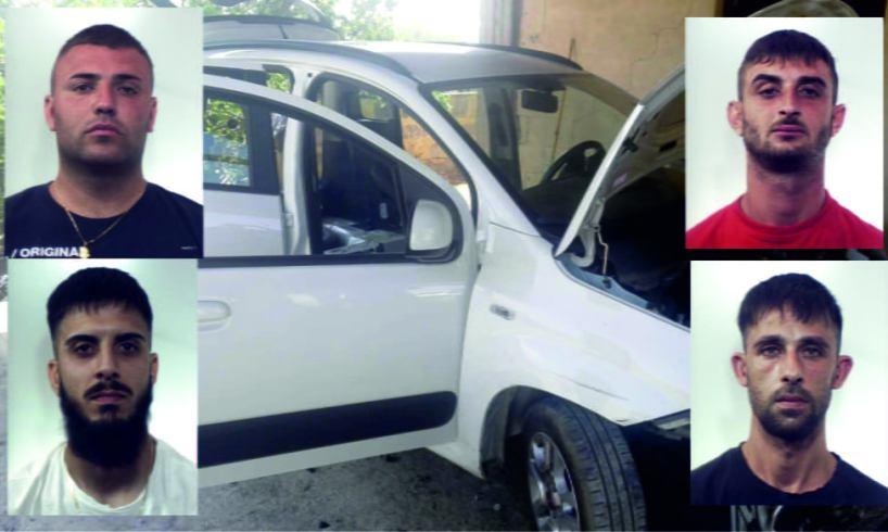 Belpasso, nel rudere-officina di c.da Vignale smontavano le auto rubate: 4 arresti per ricettazione e riciclaggio