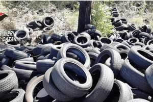 Piedimonte Etneo, nel cimitero degli pneumatici sorpreso un incivile: denunciato 53enne di Riposto