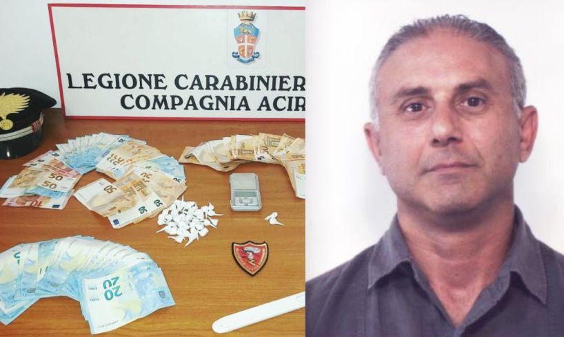 S. G. la Punta, nascondeva in casa 120 gr. di 'coca' da spacciare nell'Acese: 45enne arrestato