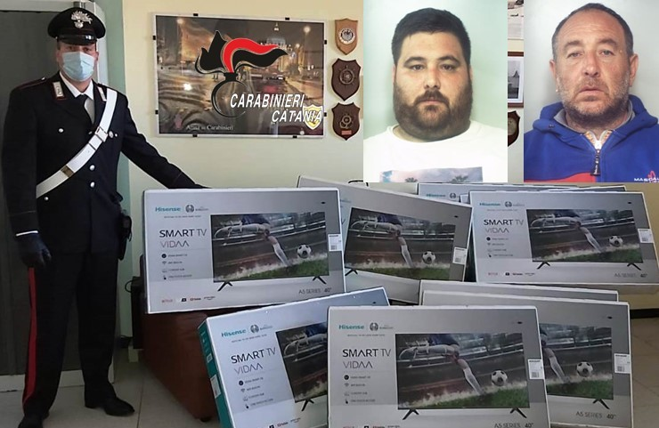 Catania, zio e nipote svuotano camion con costosi smart tv: catturati e arrestati dopo fuga