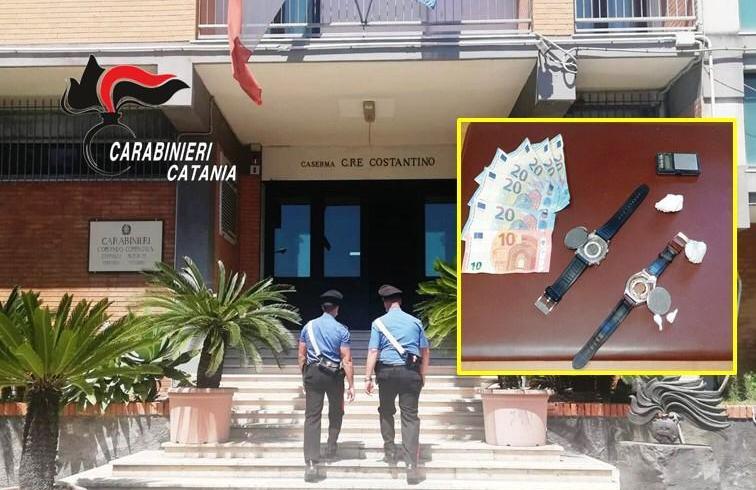 Acireale, dosi di cocaina dentro l'orologio svuotato: arrestato spacciatore 54enne