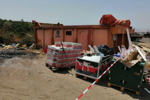 Biancavilla, Polizia provinciale sequestra area abusiva di smaltimento rifiuti speciali