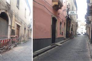 Paternò, il centro storico cade a pezzi: in via Margherita cedono pezzi di edificio abbandonato