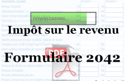 Télécharger le formulaire 2042 vierge : déclaration d'impôt 2021 au format PDF.