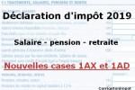 declaration impot 2019 salaire retraite 1ax 1ad