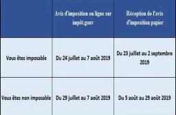 Avis d'imposition 2019 : date de réception et de mise en ligne sur «impôt.gouv».