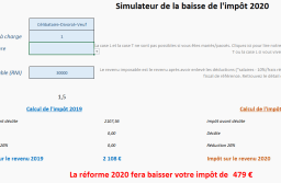 Simulateur de la baisse d'impôt 2020.