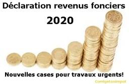 Déclaration 2020 des revenus fonciers 2019 : travaux d'urgence via les nouvelles cases I à N.