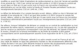 Compte bancaire étranger et assurance-vie demandés à la fin de la déclaration d'impôt en ligne : Pourquoi?