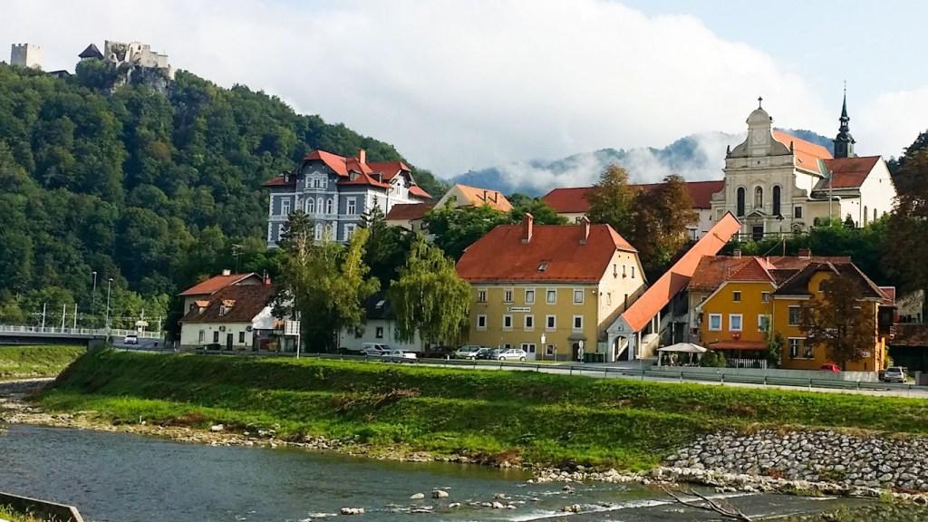 Celje e il fiume Savinja