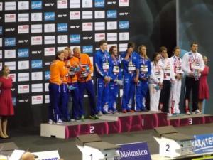 Berlino 2014 - podio 4x100 mista mista