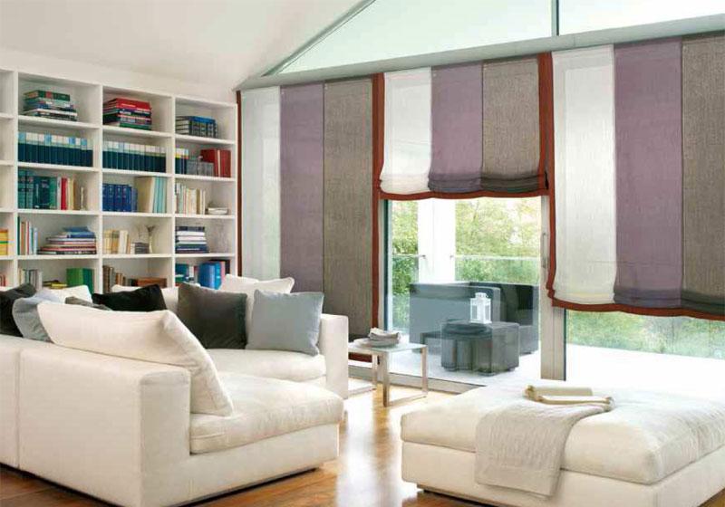 Victoria m binario per tende a pannello in alluminio 325 cm a 5 vie per 6 pannelli bianco. Tende Per Interni Corsini Tendaggi Parma