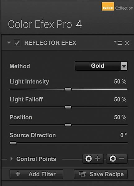 l'interfaccia del filtro