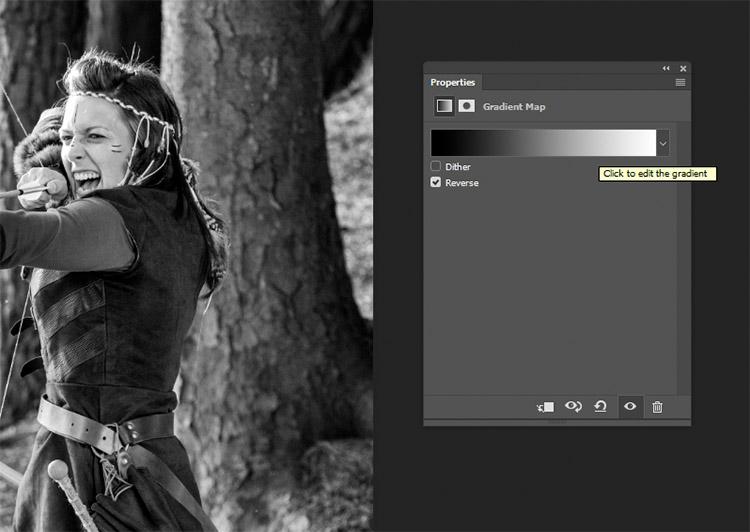 clicca sull'immagine del gradiente per accedere all'editor dei gradienti