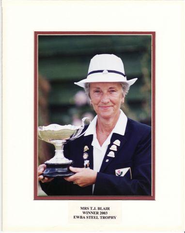 Theresa Blair, Winner of EWBA Steel Trophy 2003
