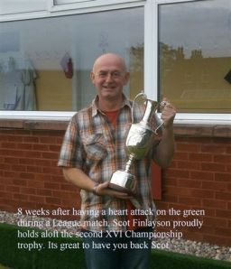 Scot Finlayson with Second XVI Trophy