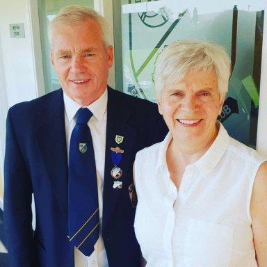 Husband & Wife Team for 2019. President Ricky Stevens and Ladies Captain Faye Stevens