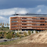 Corten steel facade treated with act-COR