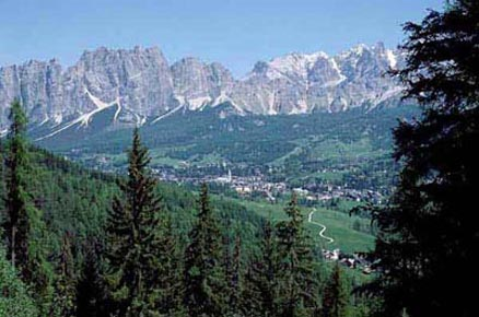 dolomiti cristallo Cortina in estate, trekking e alpinismo