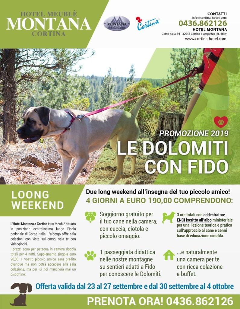 offerta cani cortina 2019 montana 796x1024 Promozione: Le dolomiti con fido. Porta il tuo cane in hotel a Cortina