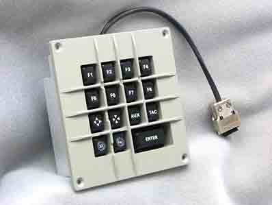 Cortron Model CUSTOM-KP Keypad No Pointing Device  Backlit Panel Mount Enclosure Extreme Shock