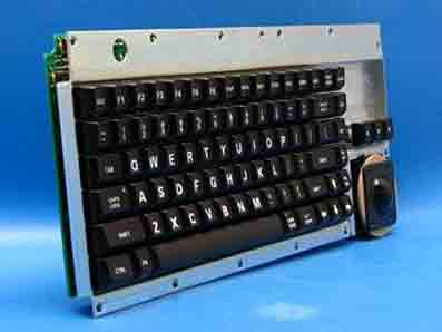Cortron Model 80 Keyboard 1 3/8 inch Trackball  Non-Backlit OEM Raw No Encl  Enclosure