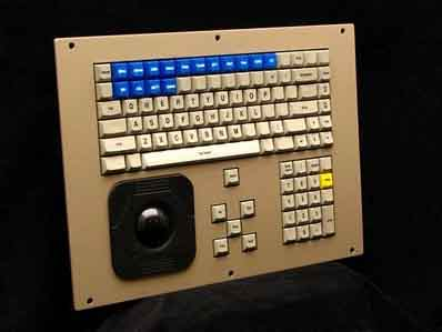 Cortron Model CUSTOM-KB Keyboard 2 inch DuraTrackball  Non-Backlit Panel Mount Enclosure