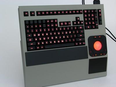 Cortron Model 121 Keyboard T20D  Backlit Rack Mount Enclosure Extreme shock