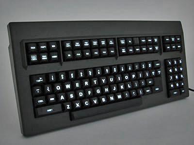 Cortron Model CUSTOM-KB Keyboard No Pointing Dev  Backlit Table Top Enclosure Dual USB Ports.