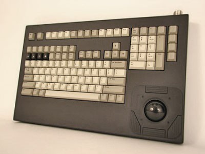 Cortron Model 121 Keyboard T20D  Non-Backlit Table Top Enclosure Light weight & ground lug.