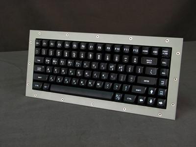 Cortron Model 80 Keyboard No Pointing Dev  Backlit Panel Mount Enclosure Korean Key Legends