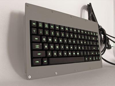 Cortron Model 80 Keyboard No Pointing Dev  Backlit Panel Mount Enclosure RoHS