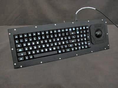 Cortron Model 90 Keyboard T20D  Backlit Panel Mount Enclosure Extreme shock