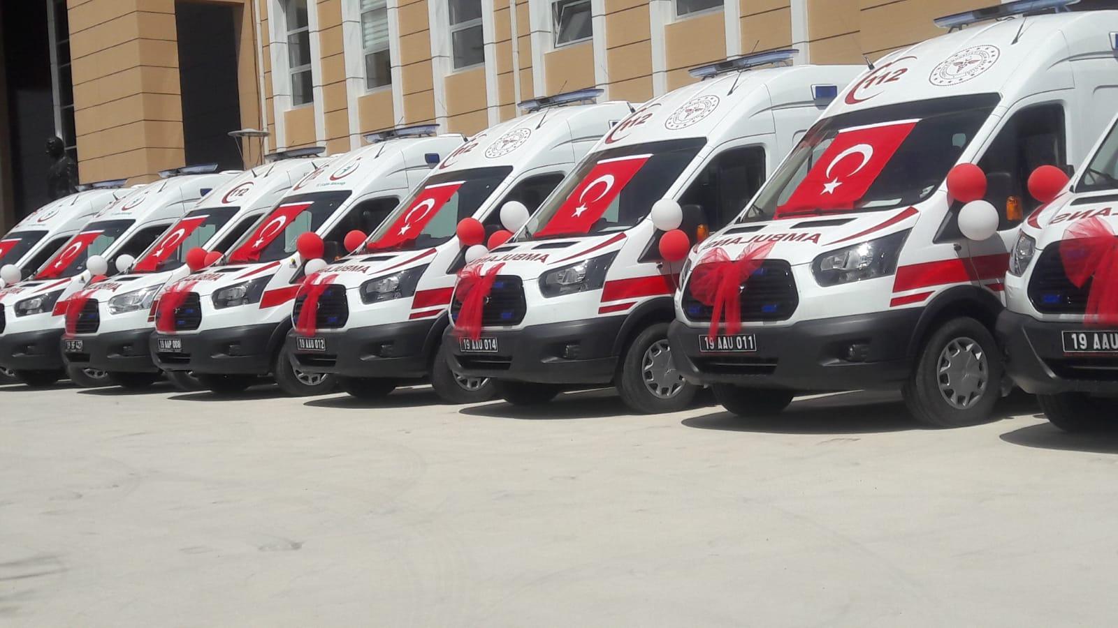 10 Ambulansın Teslim Töreni Yapıldı