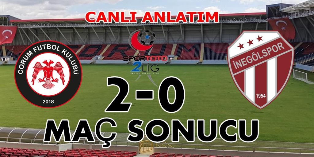 Çorum FK : 2 İnegölspor : 0