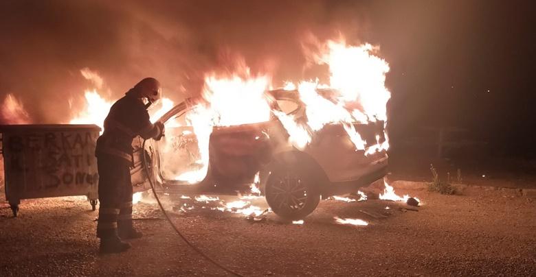 Lüks Araç Ateş Topuna Döndü