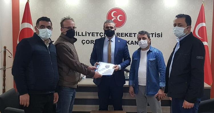 Başkan Karapıçak'a teşekkür ettiler