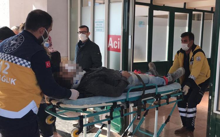 Yüksekten düşen işçi yaralandı!