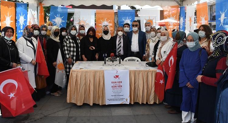 Ak kadınlardan kan bağışı kampanyası