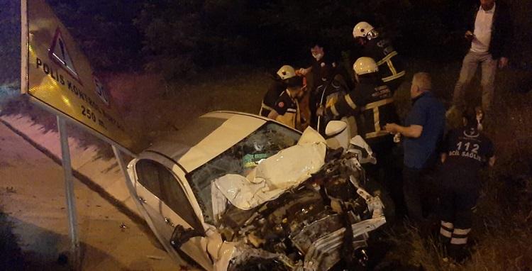 Kaza sonrası Jeep'te patlama oldu