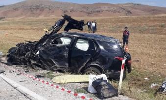 Çorum'da üzücü kaza 1 ölü 9 yaralı