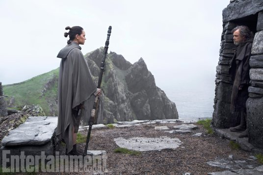 Rey e Luke Skywalker